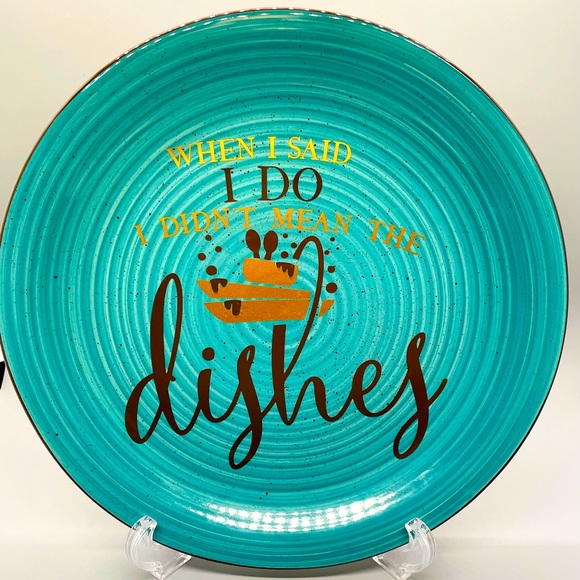 Funny Quote Couples Gift Decorative Plate
